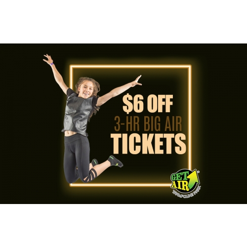 Get $6 off 3-hour jump tickets