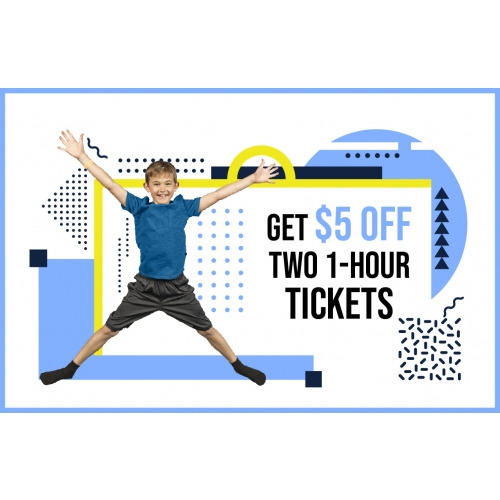 Get $5 Off Two 1-Hr Jump Tickets