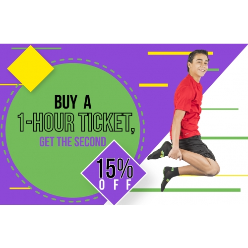 Friend Pass - Buy a 1-hour ticket, get the second 15% off
