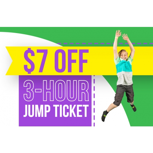 Lucky 7's - Get $7 Off 3 Hour Tickets